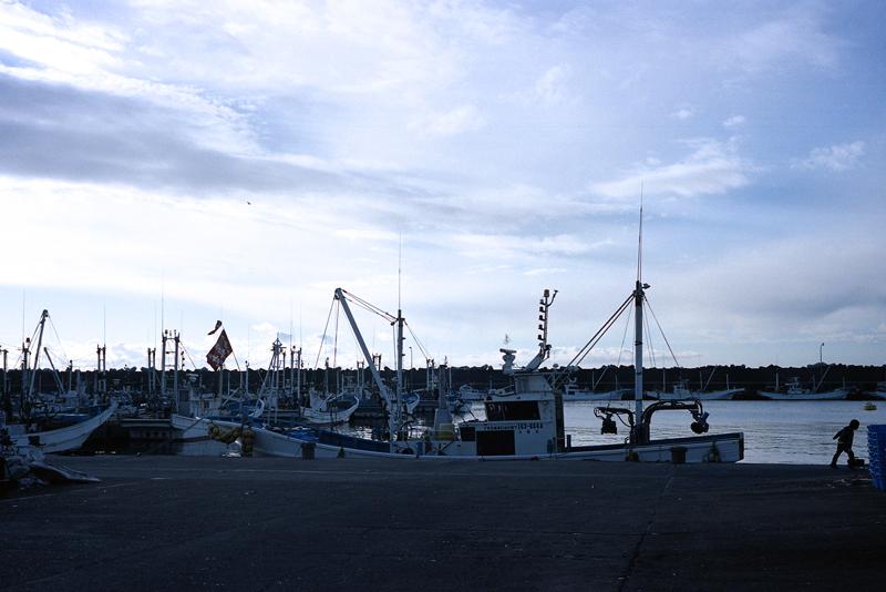 元旦の漁港