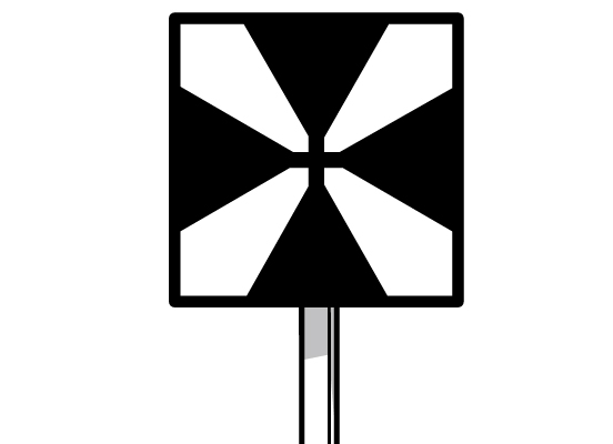 車止め標識のイラスト。