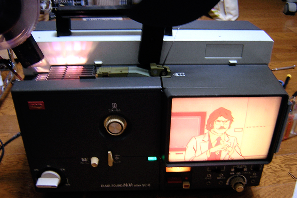 映写機の試運転