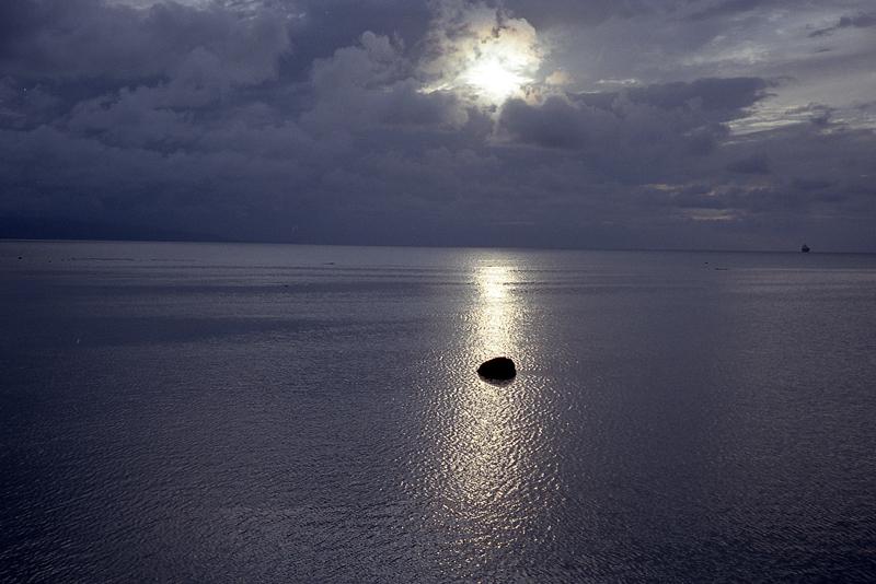 石垣島の海の夕日